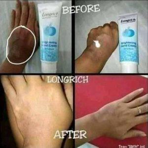 La crème de main pour nettoyer les tâches de la peau